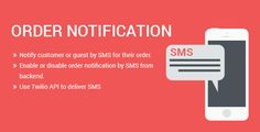cool SMS  Order Notification Magento two extension (Magento Extensions)