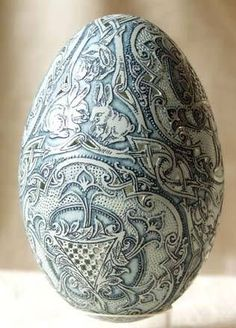 Hungarian carved egg