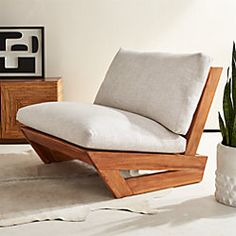 sunset teak lounge chair from // for circle area at far end of pool