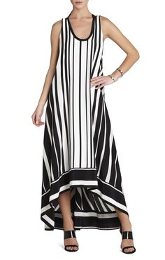 Gia Vertical-Striped Maxi Dress Striped Maxi Dresses, Vertical Stripes, Silk Crepe, Beautiful Gowns, Dress Skirt, Fashion Dresses, Clothes For Women, Fashion Design, Outfits
