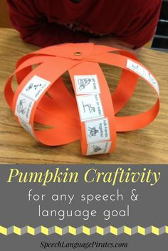 fall pumpkin craft for speech therapy