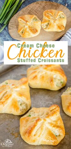 Cheese Croissant, Croissant Dinner Recipe, Chicken Croissant, Crescent Roll Recipes, Chicken Crescent Rolls, Cream Cheese Chicken, Creamed Chicken, Cream Cheese Stuffed Jalapenos, Le Diner