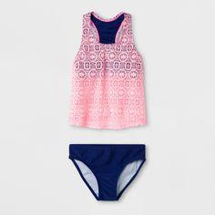 af007ff893d2d Malibu Dream Girl Girls' Effervescent 2pc Tankini Set - Blue 16.5. Blue  Swimsuit ...