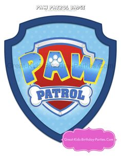 Free Printable image of Paw Patrol. Po Patrol, Bolo Do Paw Patrol, Paw Patrol Badge, Cumple Paw Patrol, Paw Patrol Party, Paw Patrol Birthday, Paw Patrol Costume, 4th Birthday Parties, Birthday Fun