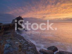 Pulpit Rock, Portland Bill Sunset on Dorset Jurassic coast royalty-free stock photo