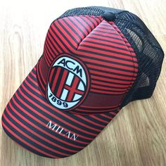 eb10dc6e032 A.C. Milan Calcio Cap Football Soccer Adults New Mens Baseball Cap Hat  Adjustable Snapback Sport Unisex