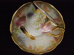 Royal Albert Teacup and Saucer multifloral heavy gold by RCSales, $32.00