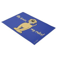 My house my rules! Doodle Doormat - golden gifts gold unique style cyo