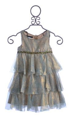 Biscotti Girls Luxurious Dress Tiered Princess $109.00