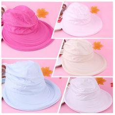 3b686a140 1pcs Woman Hats Anti UV Protecting Dual Used External Shading Beach Sun  Summer Wearing Folding Wide