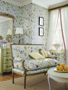 furniture upholstered in matching fabric