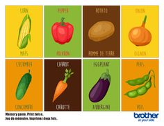 Memory Game: Vegetables