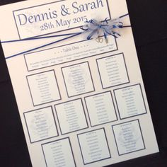 The Sarah Collection table plan