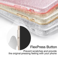 $14.49 3 IN 1 Gradient Glitter Cover for iPhone 5 5S SE 6 plus 6s plus Case Clear PC+TPU Coque 7 7 plus
