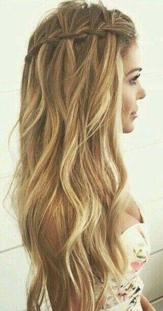 bu sene çok moda olan şelale saç modeli yapılışı youtube güzelleşelim kanalında mevcut