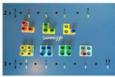 Grammazzle - Matemáticas con Numicon Fractions Ks2, Ks2 Maths, Teaching Fractions, Teaching Math, Teaching Ideas, Numicon Activities, Math Manipulatives, Numeracy, Decimal