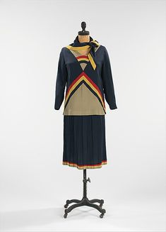 Dress  Date: ca. 1923 Culture: French (probably) Medium: silk, cotton