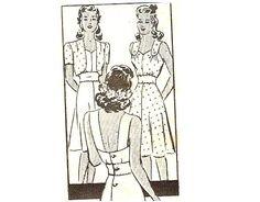 1940s Sundress and Bolero Sweetheart Neckline by CherryCorners