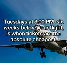 Life hack: airline tickets
