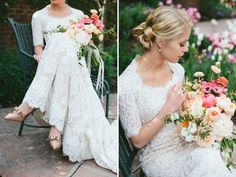 lace modest wedding gown