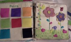 Busy book for my Puffling. Matching pairs & button flowers.