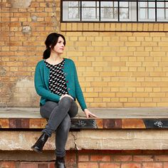 Loulou by Rebecca Mauser is knitted using The Fibre Co. Cumbria in Windermere. Blue Cardigan, Knit Cardigan, Quick Knits, Windermere, Cumbria, Stockinette, Sporty Style, Timeless Design, Knitting Patterns