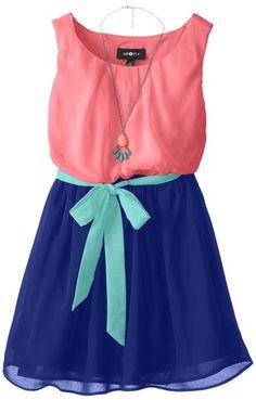 Amazon.com: Amy Byer Big Girls' Color-Block Sleeveless Dress: Clothing --- 2