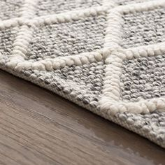 Billie Hand Tufted Cotton Wool Gray Ivory Area Rug Rug