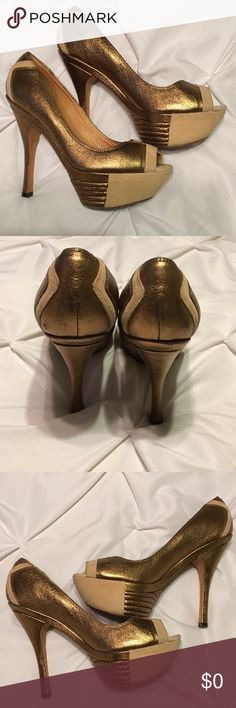Authentic L.A.M.B Shoes In use condition no damage just normal wear 5 inch heel L.A.M.B. Shoes Heels