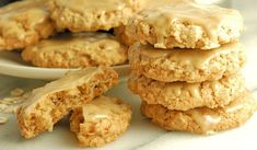 """This is my family's all time favorite cookie recipe. They're so popular we've dubbed them the """"Magic Oatmeal Cookies"""". Candy Recipes, Baking Recipes, Dessert Recipes, Desserts, Best Oatmeal Cookies, Oatmeal Cookie Recipes, Favorite Cookie Recipe, Favorite Recipes, Maple Syrup Cookies"""