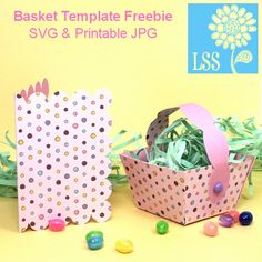 Free Easter Spring Basket cutting file