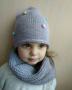 Knitting Patterns Beanie Excited to share the latest addition to my shop: Knit Hat and Scarf, Knit Girls Set, Knit Bean… Girl Beanie, Knit Beanie, Scarf Knit, Baby Girl Winter Hats, Baby Hats, Knitted Hats Kids, Girl With Hat, Baby Knitting, Knitting Patterns
