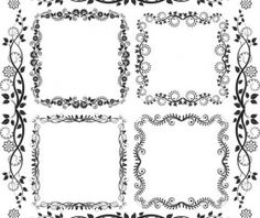 d8ed571841fe Floral frames with ornaments vector 02 - WeLoveSoLo