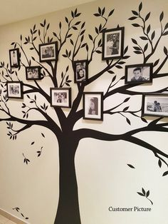 Wall decal, Family Tree Wall Decal - Photo frame tree Decal - Family Tree Wall Sticker - Living Room Wall Decals - wall graphic - Our Family Tree Wall Decal provides a one-of-a-kind backdrop for your photo gallery wall inspiratio - Nursery Wall Decals, Wall Murals, Wall Vinyl, Vinyl Decals, Family Tree Photo, Family Photos, Family Tree With Pictures, Family Trees, Photowall Ideas