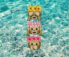 emoji, flower crown, monkey - image #3173064 by winterkiss on ...