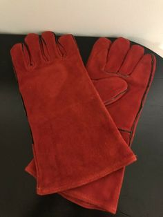 6b7154fbc Suede Utility Gloves for Fire Hearth Stove Use - Red Unbranded #fashion  #clothing #