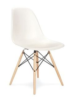 Eames Molded Plastic Side Chair W Wood Dowel Base