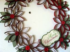 Christmas wreath made from tp rolls