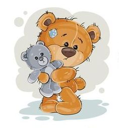 Cartoon Elephant, Bear Cartoon, Cute Cartoon, Animal Nail Designs, Baby Boy Art, Teddy Bear Pictures, Bear Character, Brown Teddy Bear, Alphabet Coloring Pages