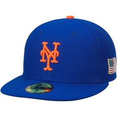 fef51e2de0c Men s New Era Royal New York Mets Authentic Collection On-Field 59FIFTY  Flex Hat with 9 11 Side Patch