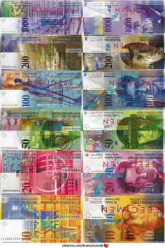 Current series of Swiss Banknotes, designed by Jörg Zintzmeyer. The most secure banknotes in the world. Every banknote depicts a famous Swiss designer, artist or composer, such as Le Corbusier (10CHF), Arthur Honegger (20 CHF), Sophie Taeuber-Arp (50 CHF), Alberto Giacometti (100 CHF), Charles Ferdinand Ramuz (200 CHF) and Jacob Burckhardt (1000 CHF). / iloveswissmade.com