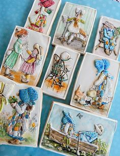 Holly Hobbie Cookies   Cookie Connection Delightful, hand painted, bas relief cookies by Kim-Sugar Rush Custom Cookies posted at Cookie Connection