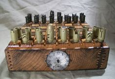 STEAMPUNK BULLET SHELL chess set   45 caliber by OldeWorldCC, $185.00