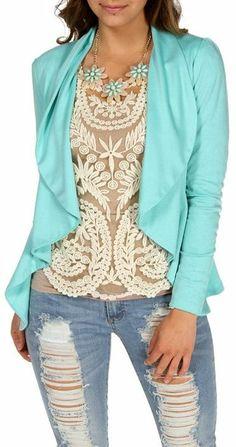 Ripped Jeans & Lace // Mint & Ivory ♡ L.O.V.E.