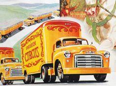 1949 GMC Circus Trucks ad