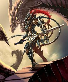 Dragon Armor, Dragon Knight, Knight Armor, Fantasy Armor, Dark Fantasy Art, Fantasy Character Design, Character Art, Armadura Medieval, Cool Dragons
