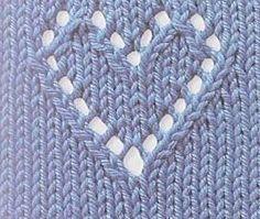 Knitting - heart design