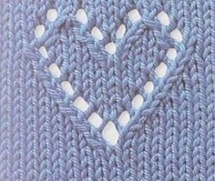 Knitting - heart design