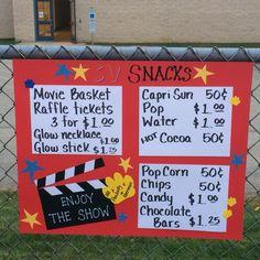 Movie night prices