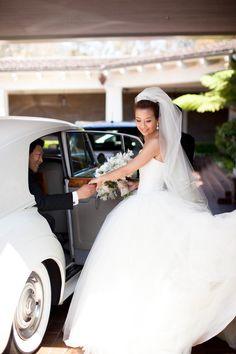 #VeraWang Gown | See the Wedding on #SMP Weddings: http://www.stylemepretty.com/california-weddings/laguna-beach/2013/01/07/montage-laguna-beach-wedding-from-jana-williams-photography/  Jana Williams Photography